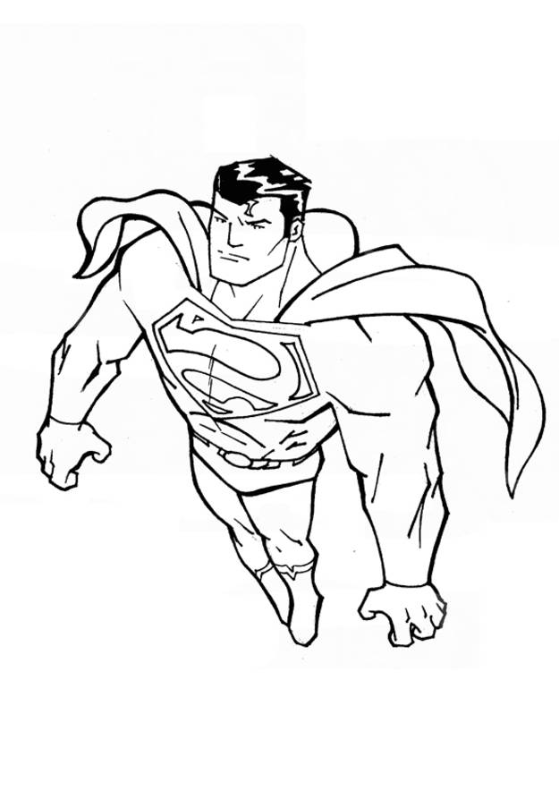 Free coloring and drawings Easy superman Coloring page