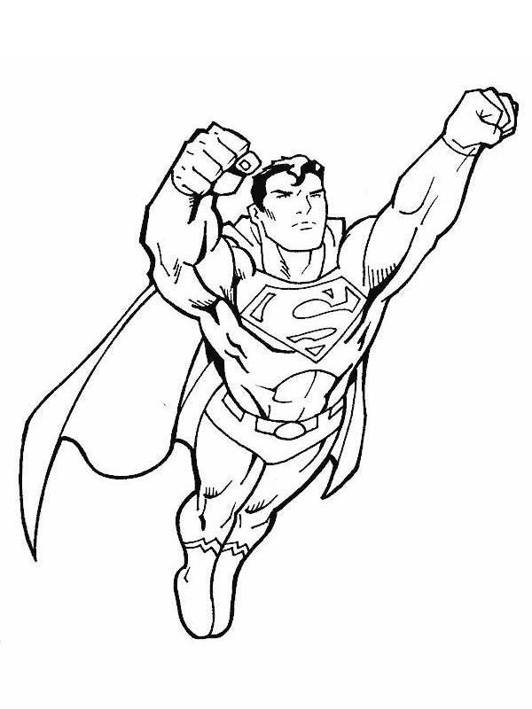 Free coloring and drawings Super Man in flight Coloring page