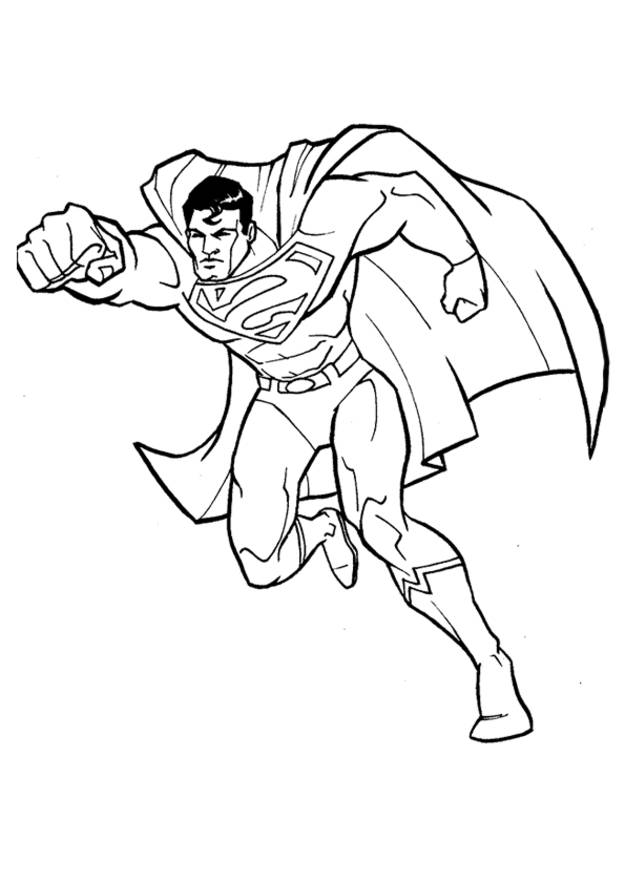 Free coloring and drawings Superman all Strong Coloring page