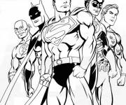 Free coloring and drawings Superman and The Other Super Heroes Coloring page