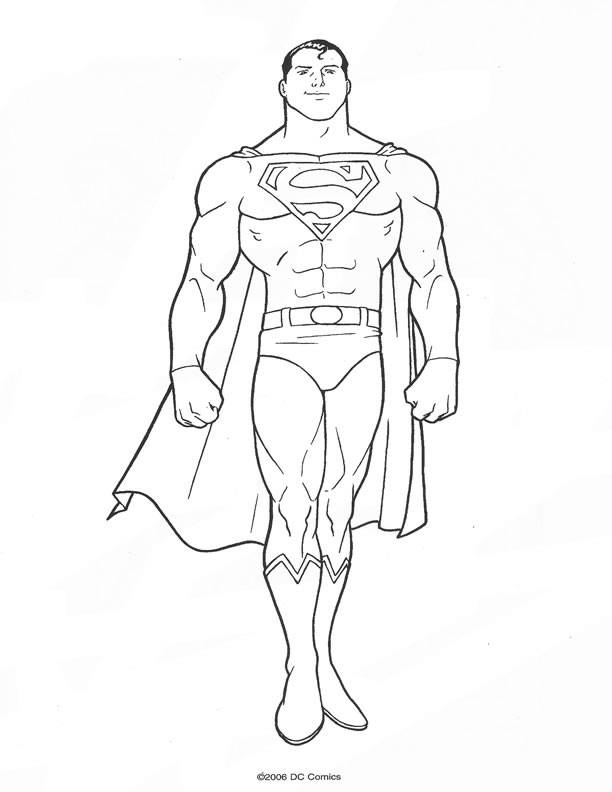 Free coloring and drawings Superman Clark Kent Coloring page