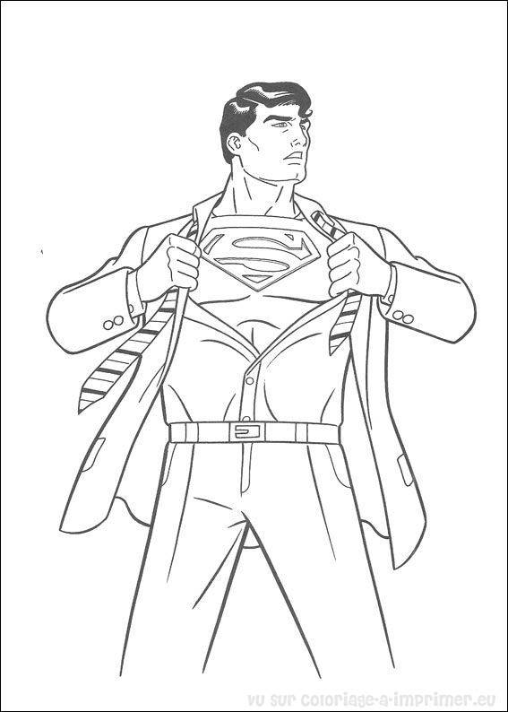 Free coloring and drawings Superman Clark The Journalist Coloring page