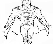 Free coloring and drawings Superman color Coloring page
