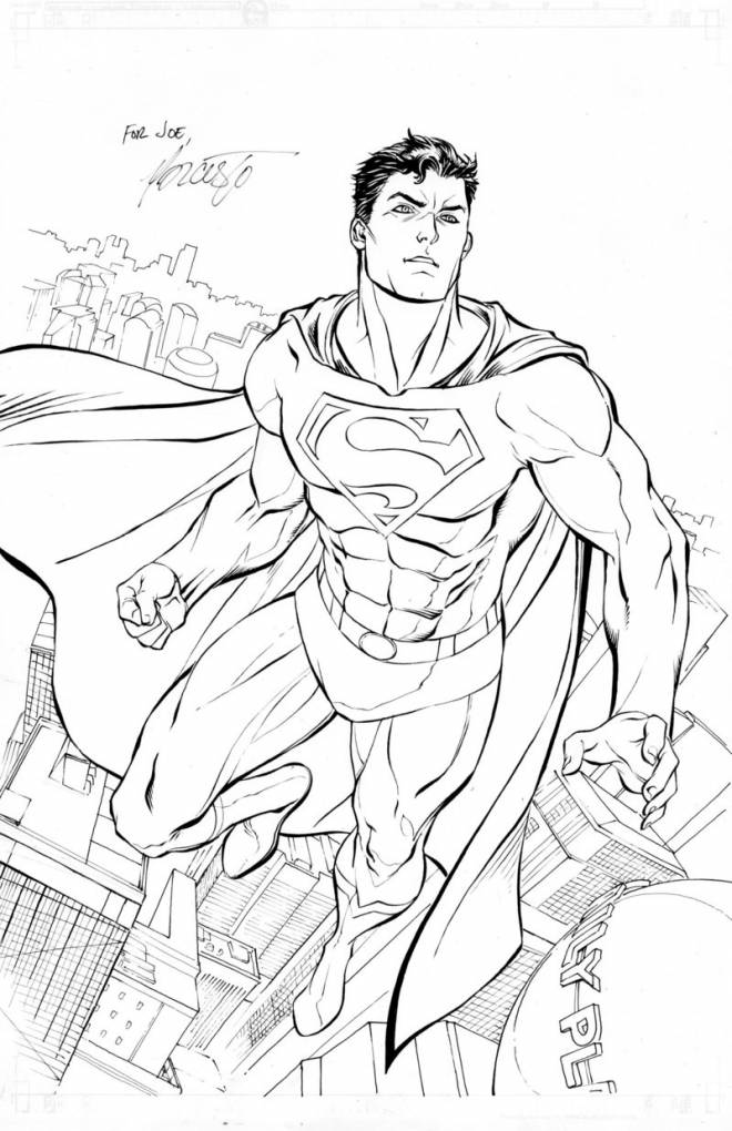 Free coloring and drawings Superman coloring Coloring page