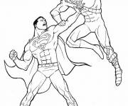 Free coloring and drawings Superman in combat Coloring page