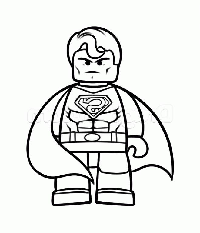 Free coloring and drawings Superman Lego Coloring page