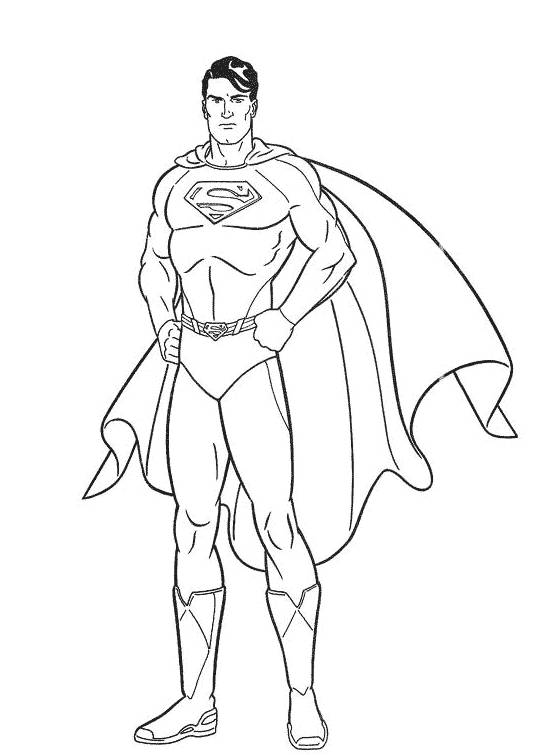 Free coloring and drawings Superman portrait Coloring page
