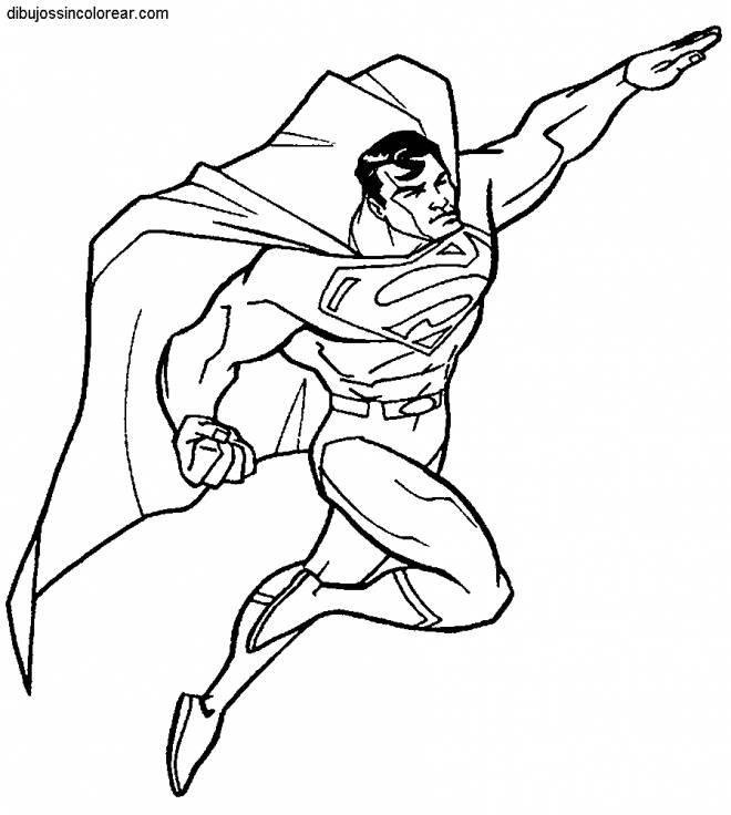 Free coloring and drawings Superman Super Hero Coloring page