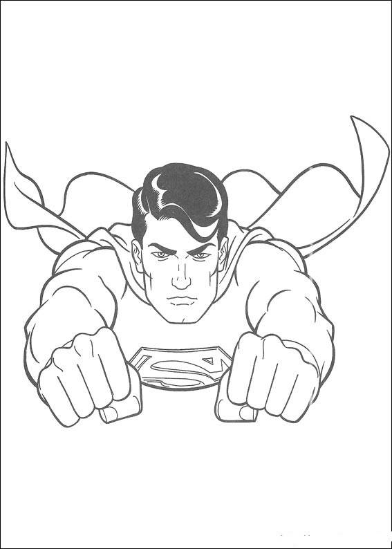 Free coloring and drawings Superman takes off Coloring page