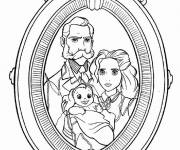 Coloring pages Jane and her family