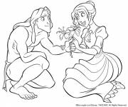 Coloring pages Tarzan and Jane