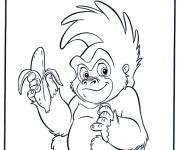 Coloring pages Terk The Monkey