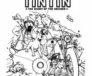 Coloring pages The Adventures of Tintin
