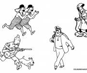 Coloring pages The Tintin Characters