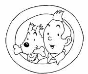 Coloring pages Tintin