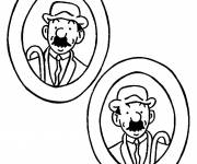 Coloring pages Tintin Dupond and Dupont