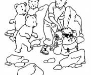 Coloring pages Tintin on the Mountain