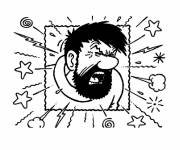 Coloring pages Upset Captain Haddock
