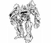 Coloring pages Black and white transformers