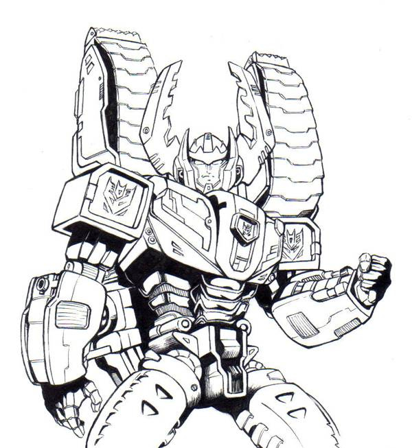 Printable Transformers Starscream free sheets coloring page