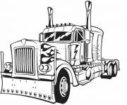 Coloring pages Transformers Truck