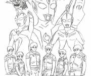 Coloring pages Easy Ultraman
