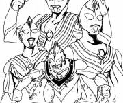 Coloring pages Legendary Ultraman