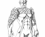 Coloring pages Ultraman in black and white
