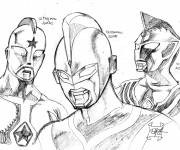 Coloring pages Ultraman in pencil
