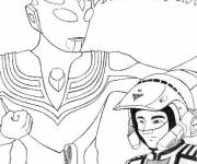 Coloring pages Ultraman Japanese Series