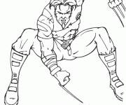 Coloring pages Easy Wolverine