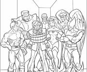 Coloring pages The Heroes of the X-Men Movie