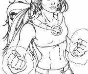 Coloring pages X-Men Malice