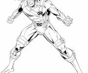 Coloring pages X-Men Scoot Summer