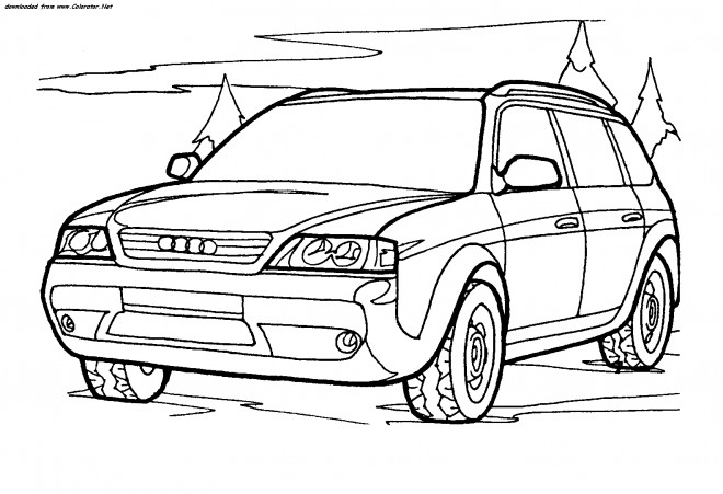 Free coloring and drawings 4 X 4 Audi Coloring page