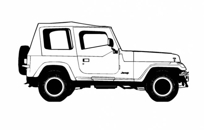 Free coloring and drawings 4 X 4 car Coloring page