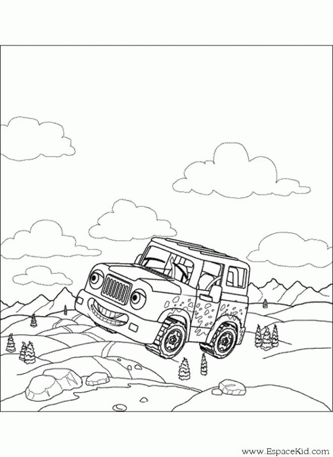 Free coloring and drawings 4 X 4 car for children Coloring page