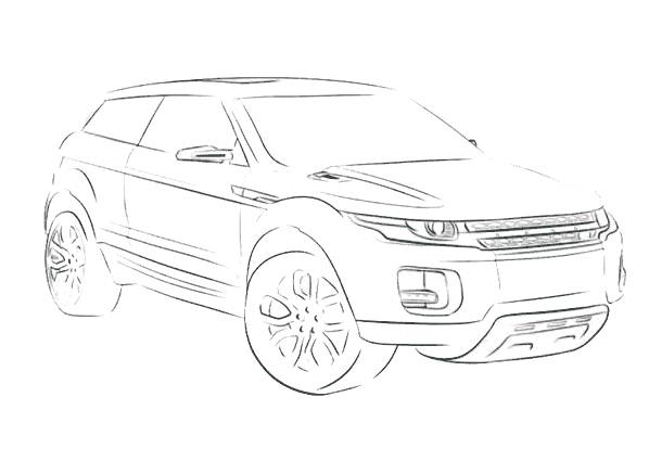 Free coloring and drawings 4 X 4 car model Coloring page