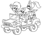 Free coloring and drawings 4 X 4 cartoon Coloring page