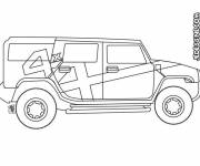Free coloring and drawings 4 X 4 easy Coloring page