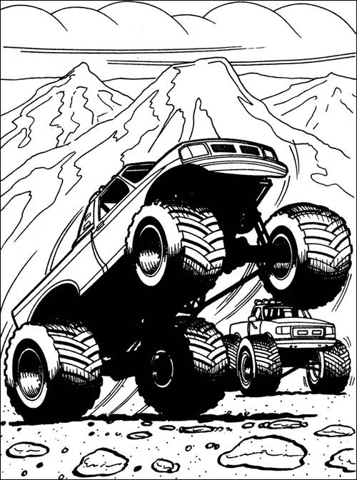 Free coloring and drawings 4 X 4 Giants Coloring page