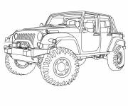 Free coloring and drawings 4 X 4 in color Coloring page