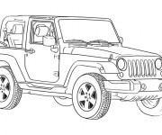 Free coloring and drawings 4 X 4 Jeep Coloring page