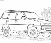 Free coloring and drawings 4 X 4 kindergarten Coloring page