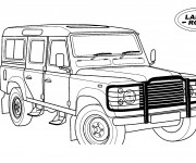 Free coloring and drawings 4 X 4 Land Rover Coloring page