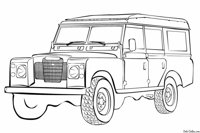 Free coloring and drawings 4 X 4 Land Rover to color Coloring page
