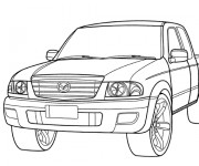 Free coloring and drawings 4 X 4 Mazda Coloring page