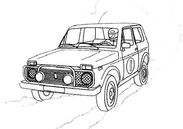 Free coloring and drawings 4 X 4 of rally Coloring page