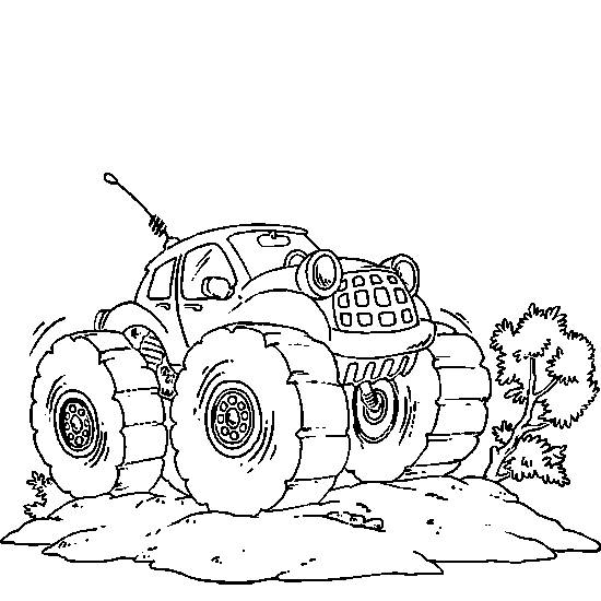 Free coloring and drawings 4 X 4 Powerful Coloring page