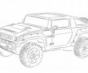 Free coloring and drawings 4 X 4 racing Coloring page